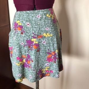 Free People Green Floral Skirt XS